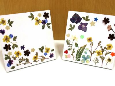 鎌足和紙の押し花フレーム