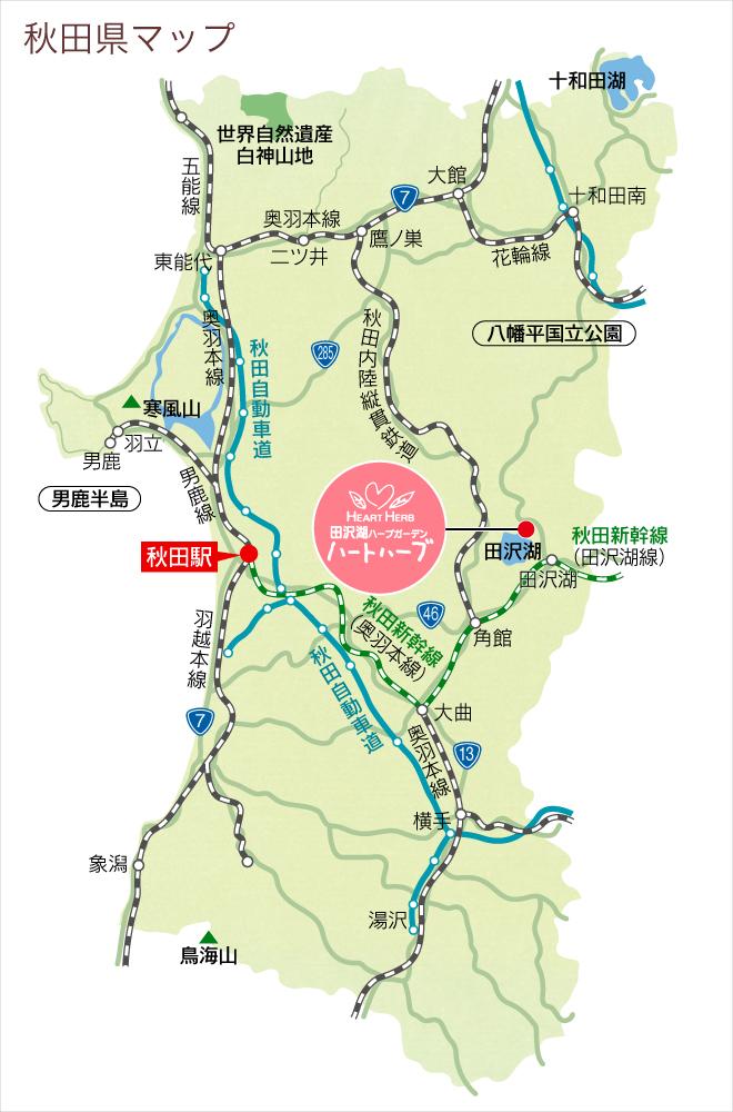 秋田県マップ