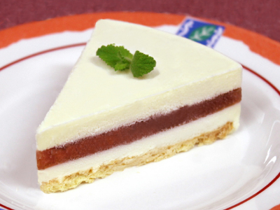 ルバーブチーズケーキ