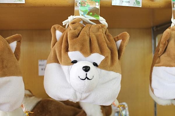 秋田犬巾着袋
